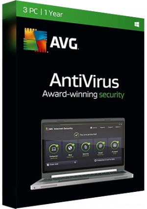 AVG Antivirus - 3 PCs/1 Year