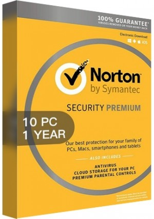 Norton Security Premium 3 Multi Device/10 Devices/1 Year