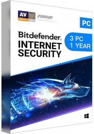Bitdefender Internet Security / 3 PCs (1 Year )