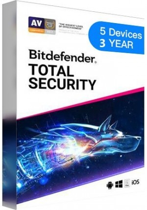 Bitdefender Total Security / 5 Devices  (3 Years)