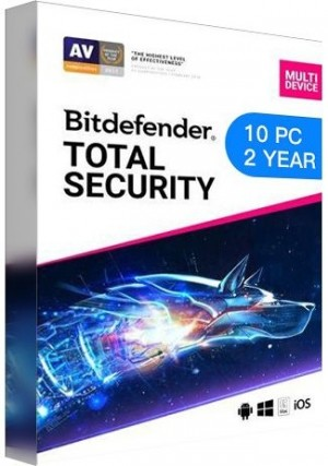 Bitdefender Total Security Multi Device / 10 Devices (2 Years)