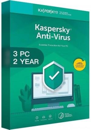 Kaspersky Antivirus 2020 / 3 PCs  (2 Years)