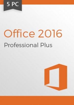 Microsoft Office 2016 Professional Plus Key (5 PCs)