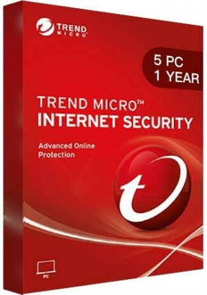 Trend Micro Internet Security / 5 PCs (1 Year )